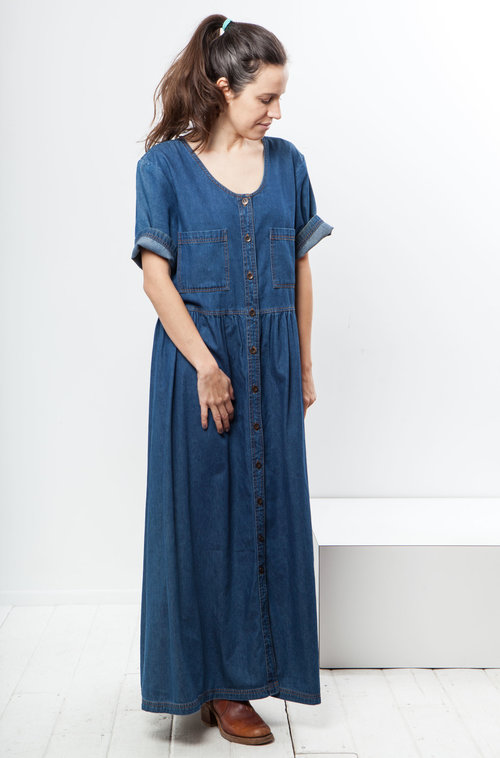 Cactus vintage denim dress