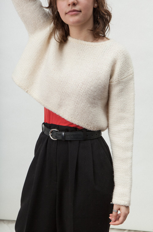 Tristan wool crop top