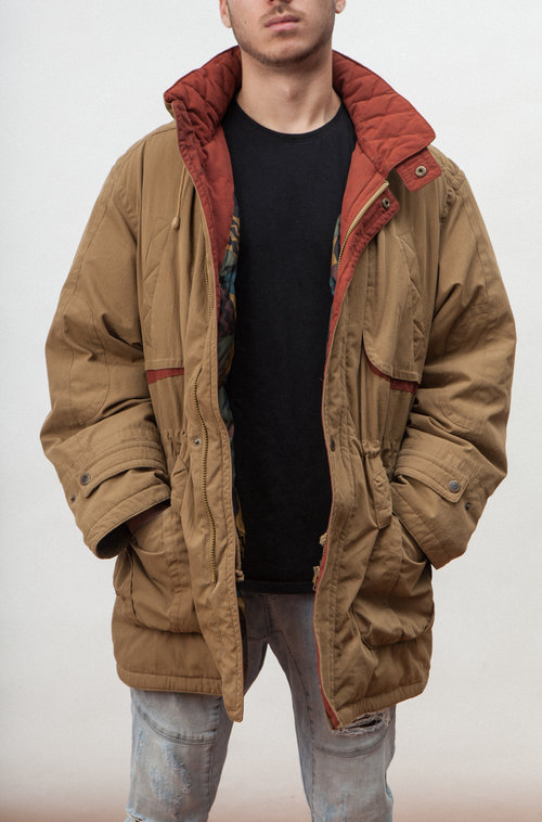 Casual vintage down jacket