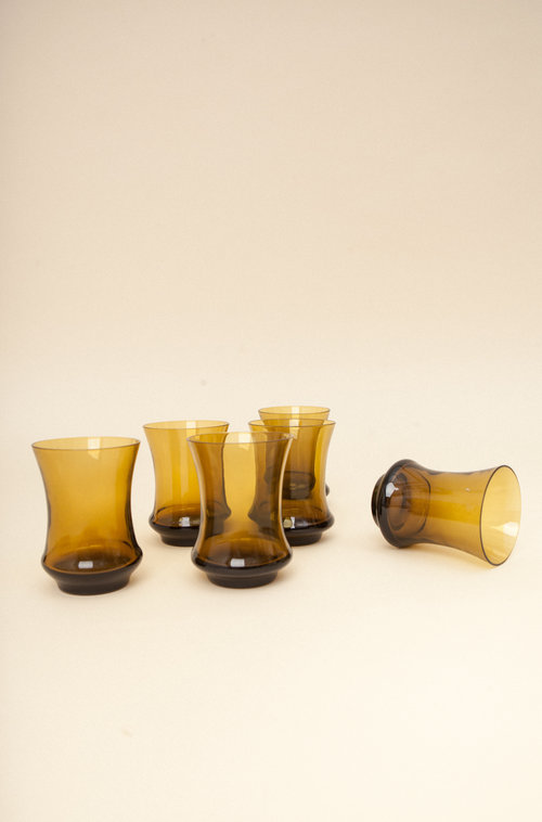 Amis vintage glass set (6)