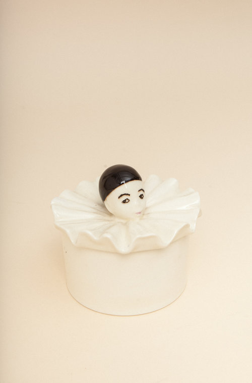 Pierrot vintage ceramic container