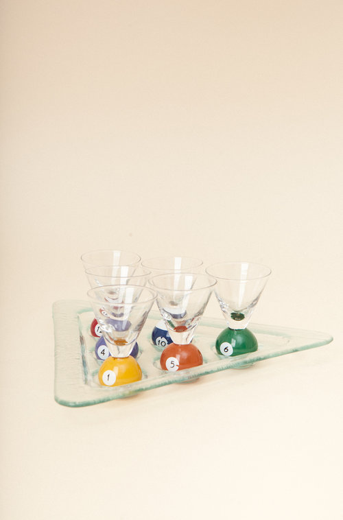 8ball vintage shooter tray